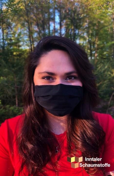 Behelfs-Mund und Nasenabdeckung Schwarz