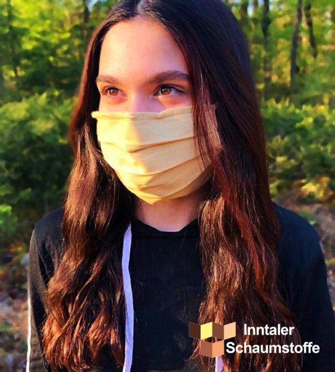 Behelfs-Mund und Nasenabdeckung Hellbraun