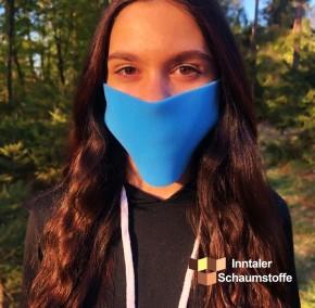 Behelfs- Mund und Nasenabedekung 100er Pack  Blau